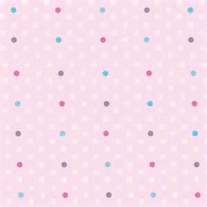 papier peint petits pois roses turquoise et fushia lili