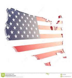 USA Flag Shaped Country