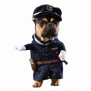 Funny Dog Costumes Cool Policeman Pet Dog Clothes Suit ...