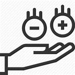 Positive Negative Opportunity Icon Hand Catch Choose