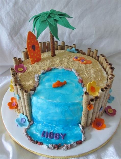 Beach Theme Cake From Cake Central A Smaller Version