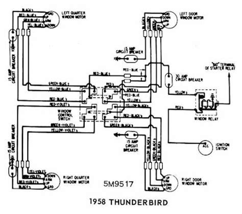 Ford Thunderbird Windows Wiring Diagram All About