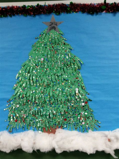 paper christmas tree bulletin board this is a bulletin board tree made from construction paper with loads of glitter