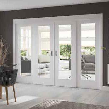 easi  white full pane shaker sliding doors