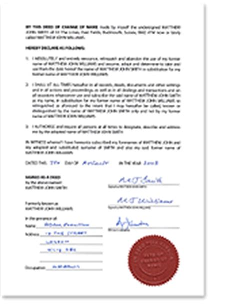 change of name deed poll template what is a deed poll uk deed poll service