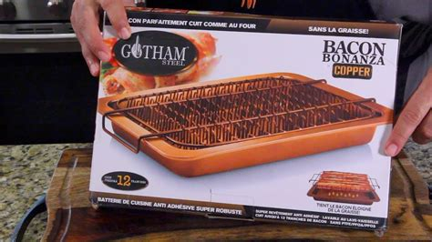 bacon bonanza  gotham steel    tv youtube