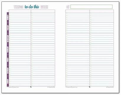 Weekly Planner Printable Printables Personal Half Lists