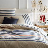 perfect modern duver cover Playa Stripe Duvet Cover - Contemporary - Duvet Covers And ...