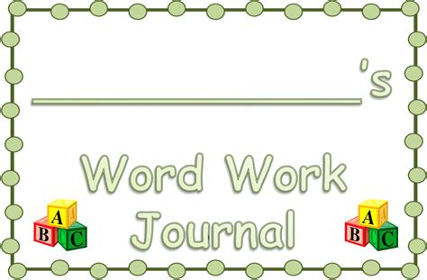 is journaling a word word work journals