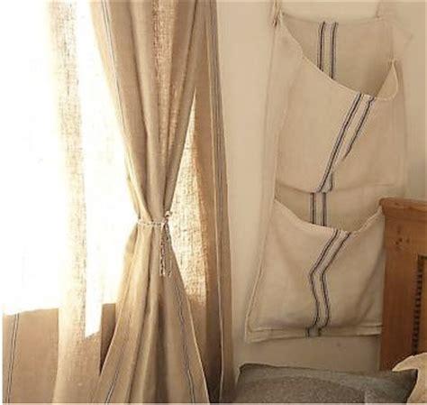 grain sack curtains ettabloom grain sack wall pocket