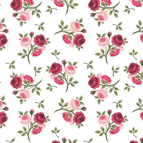 Papel de Parede Rosas Vermelhas Pequenas Sobre Branco Elo7