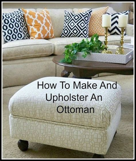 How To Build A Ottoman by A Stroll Thru How To Make Upholster An Ottoman