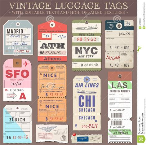 Printable Luggage Tags Images Vector Luggage Tags From 46 Million High