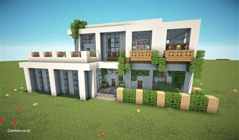 gambar rumah minimalis versi minecraft
