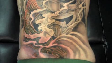 japanese koi  piece tattoo cover   terry mayo