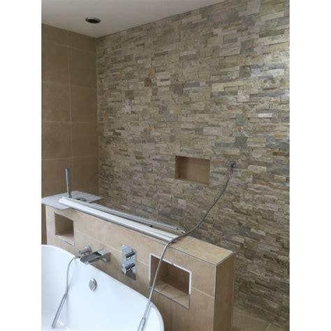 split face shower wall stonewood