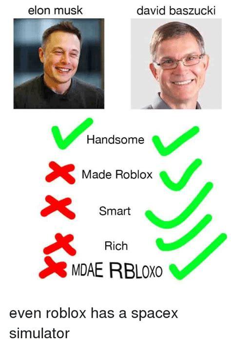 elon musk david baszucki handsome  roblox smart rich