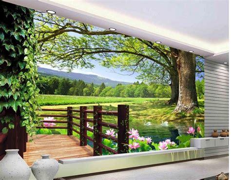 Aliexpresscom  Buy 3d Room Wallpaper Landscape Balcony