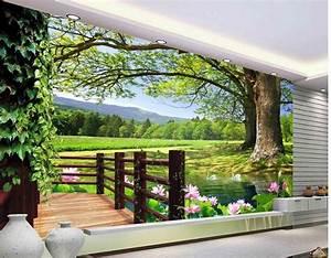 3d room wallpaper landscape balcony scenery 3d wall murals ...