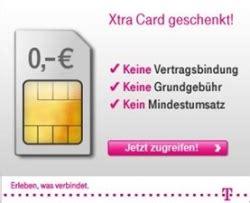telekom ab sofort wieder kostenlose xtra card erhaeltlich