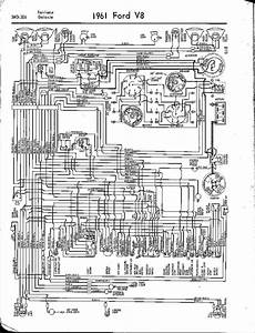 1961 Ford V8 Fairlane  Galaxie Wiring Diagram  59498