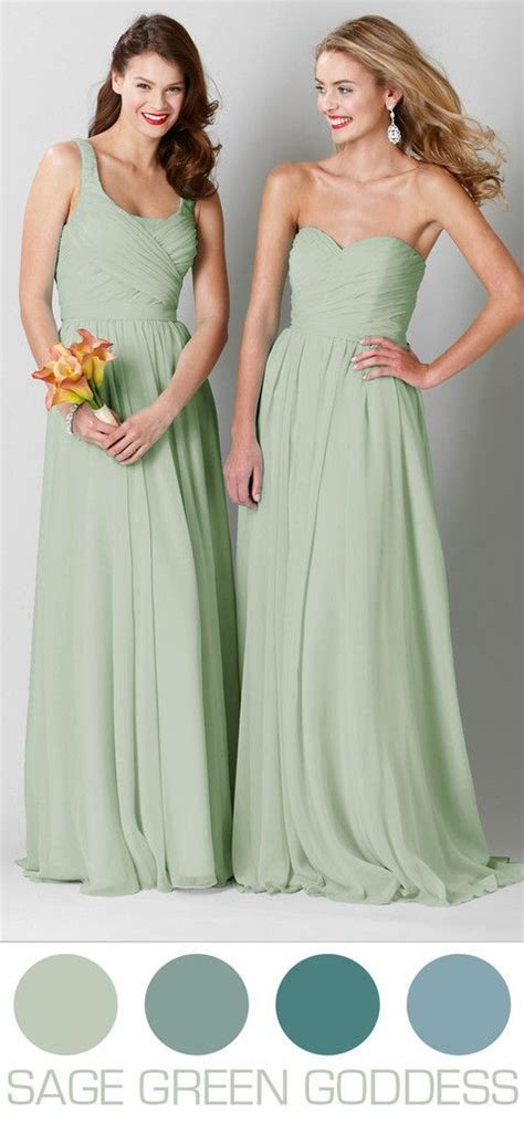gorgeous wedding colors  spring chiffon bridesmaid