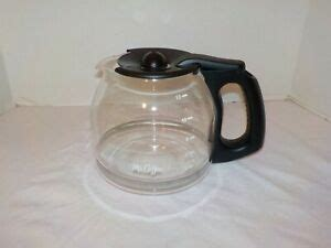 Compatible with cg, cj, dr, dw, jw, nc, pl, sk, and tf series coffee makers. MR COFFEE 12 Cup Replacement Glass Carafe Decanter Pot Black Lid & Handle (4) | eBay