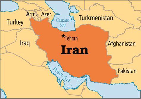 iran capital map