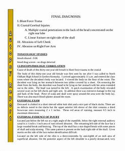 autopsy report template 5 free word pdf documents With death summary template
