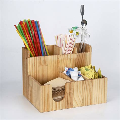 These are perfect to carry your beers around as they come with a handle. Wooden Cup office lid dispenser Holder Coffee Condiment Caddy Rack Organizer   eBay