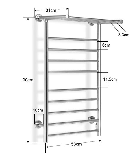 heated towel rack 130w wall mounted heated towel rack shopping