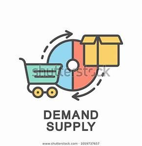 Icon Demand Supply Diagram Supply Demand Stock Vector