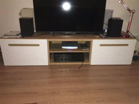Besta Ikea Tv Bench With Drawers, Oak Effect, Lappviken