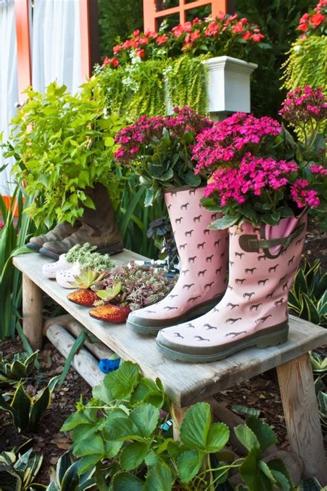 Astonishing Shoe Pots That Will Make Your Garden Original