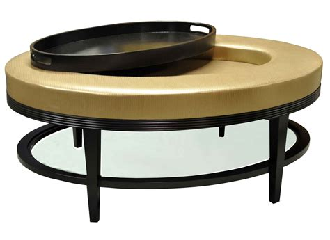 ottoman and coffee table light gold color round faux leather ottoman coffe table
