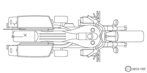 Autocad Drawing Harley Davidson Motorcycle Model Flhx
