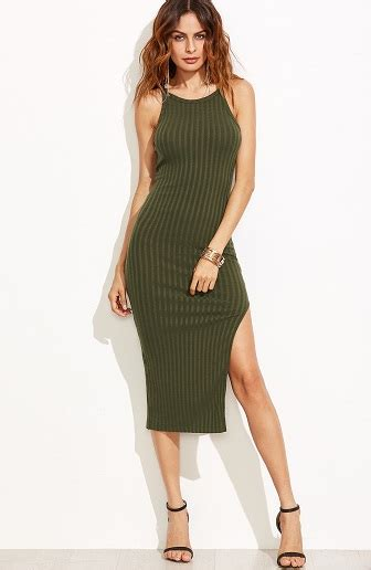 fashionable slit dress  ladies  pictures styles