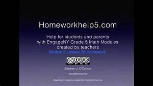 Grade 5 Engageny Eureka Math Module 2 Lesson 28 Homework