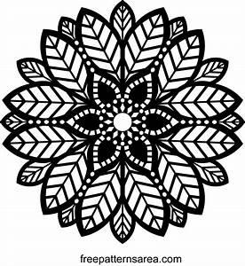 Decorative Leaf Ornament Mandala Pattern FreePatternsArea