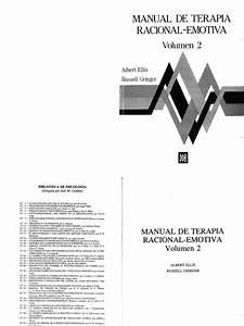 Manual De Terapia Racional Emotiva De Albert Ellis Pdf