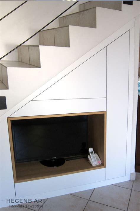 meuble tv encastr 233 sous escalier hegenbart