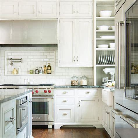 cooktop niche transitional kitchen bhg