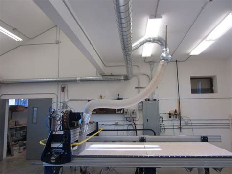 cnc router  dust collection including ball joint