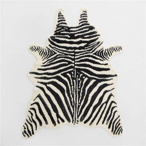 Zebra Hide Rugs by Black And Ivory Faux Zebra Hide Area Rug World Market