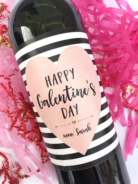 Galentines Wine Labels Valentines Day Gift for Her | Etsy