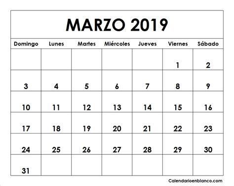 foto de Gratis Calendario marzo 2019 para imprimir (6) Download