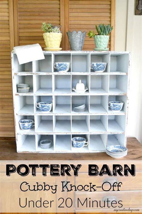 pottery barn knock pottery barn cubby knock in 20 minutes my creative days