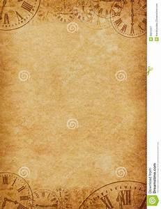 Vintage Grunge Parchment Background Clock Faces Stock ...