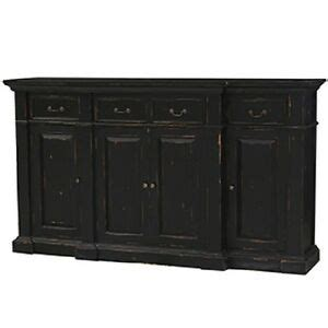 Black Sideboards And Buffets by Stepped Front Buffet Sideboard Cabinet Black Distressed B