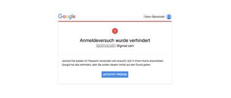 ist die google mail kritische sicherheitswarnung von google